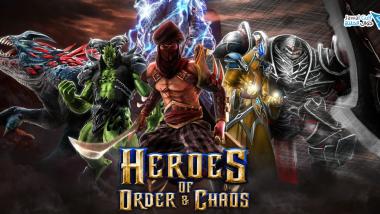 لعبة الاستراتجية و المغامرات Heroes of Order & Chaos v2.0.0l معدلة للاندرويد