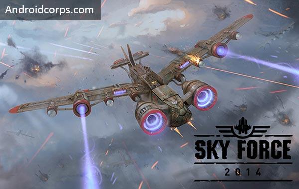 لعبة الطائرات زمن النوكيا Sky Force معدلة وكاملة للاندرويد