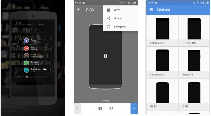 تطبيق Screener : ضع صورتك داخل إطار هاتف ذكي