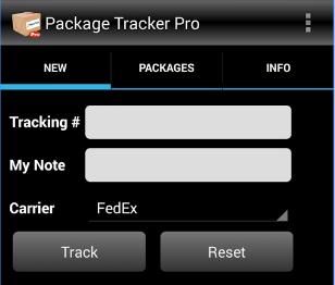 Package tracker 1