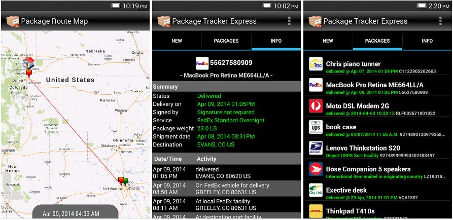 Package tracker apk2