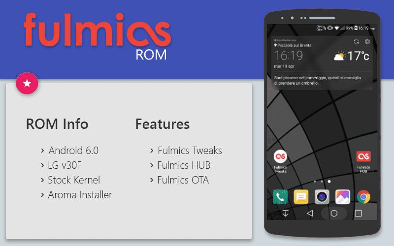 روم Fulmics v5.3 المسحوب من LG G5 (مارشملو 6.0.1) لهاتف LG G3 (كل الموديلات)