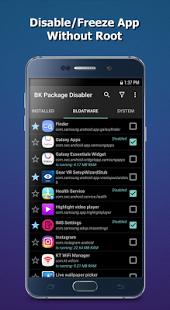تطبيق BK Package Disabler Samsung لادارة الهاتف بدون رووت