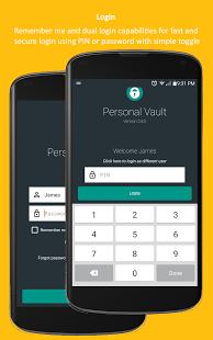 تطبيق Password Manager and Vault لادارة الحسابات و حفظ كلمات المرور