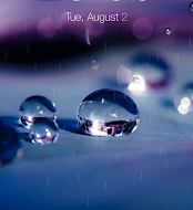 Galaxy rainy lockscreen