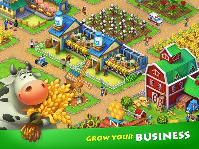 لعبة المزرعة Township نسخة كاملة للاندرويد