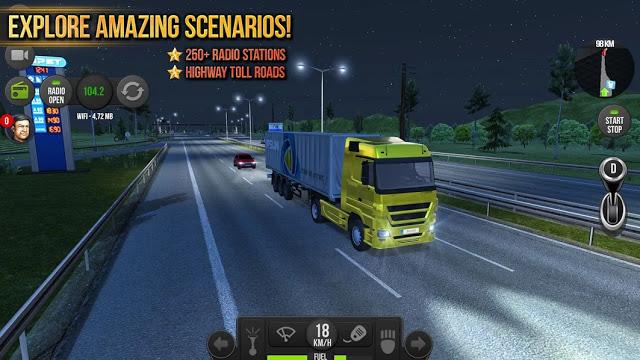 لعبة قيادة الشاحنات Truck Simulator 2018 Europe للاندرويد