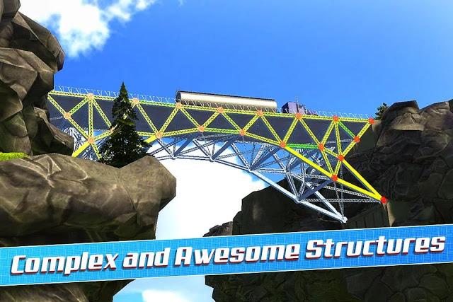 لعبة بناء الجسور Bridge Construction Simulator للاندرويد