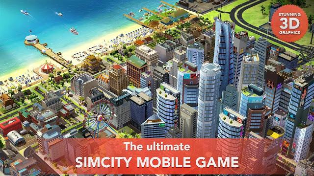 لعبة البناء SimCity BuildIt للاندرويد