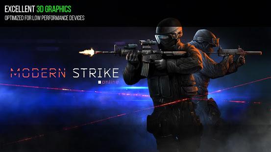تحميل لعبة القتال MODERN STRIKE ONLINE للاندرويد كاملة