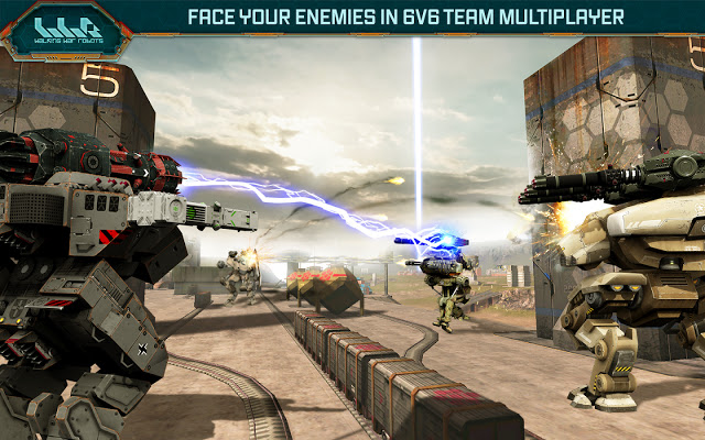تحميل لعبة الحروب Walking War Robots للاندرويد كاملة