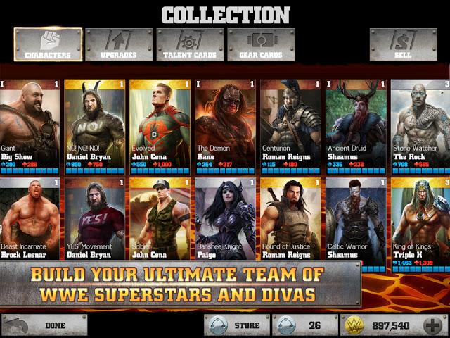 تحميل لعبة المصارعة الحرة الرائعة WWE Immortals للاندرويد كاملة