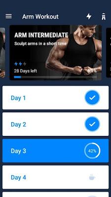 تحميل تطبيق تمارين الذراعين Arm Workout - Biceps Exercise للاندرويد