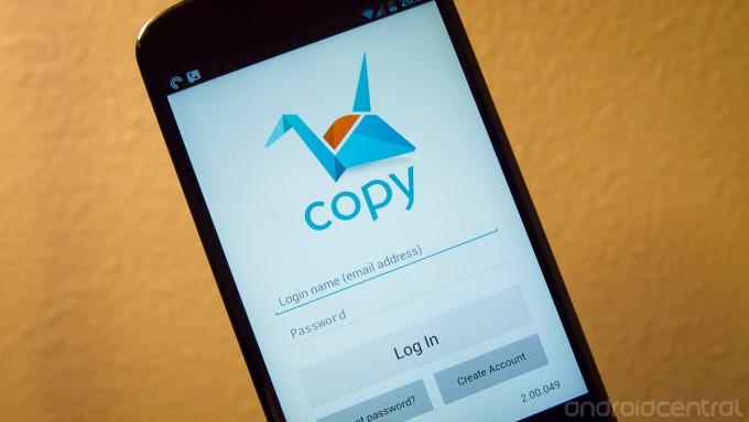 الخدمة السحابية المقدمة من برنامج copy لرفع الملفات