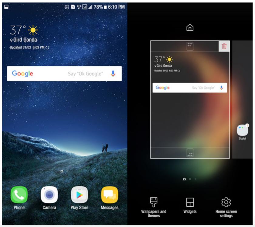 طريقه تحميل و تثبيت لانشر هاتف سامسونج جالاكسي S8