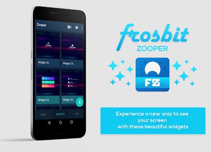 تطبيق Frosbit Zooper لاضافة العديد من الاختصارات و الويدجت للشاشة الرئيسية