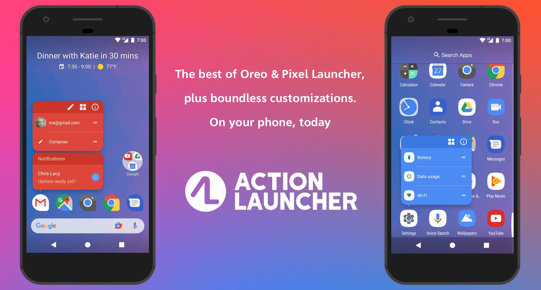 تحميل تطبيق افضل تطبيق لانشر Action Launcher لهواتف اندرويد