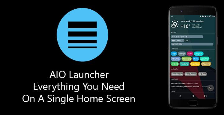 تحميل تطبيق اللانشر AIO Launcher لهواتف اندرويد