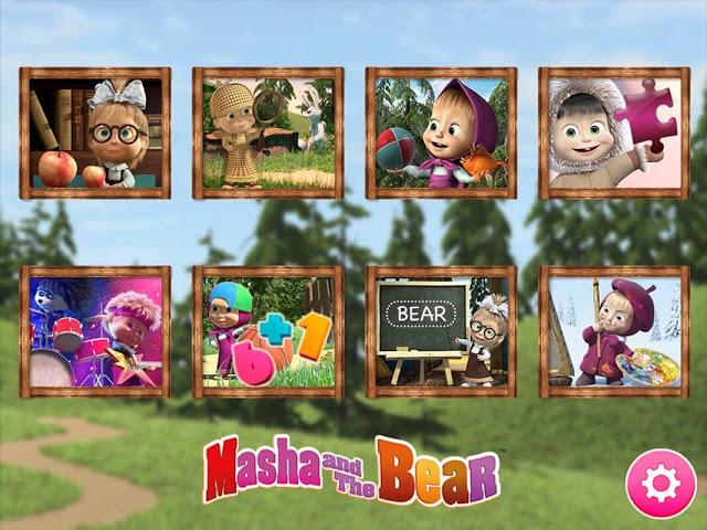 تحميل لعبة ماشا والدب Masha and the Bear. Educational Games للاندرويد كاملة