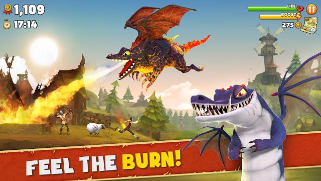 تحميل لعبة التنين الجائع Hungry Dragon للاندرويد