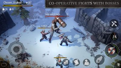 تحميل لعبة البقاء على قيد الحياة Frostborn للاندرويد
