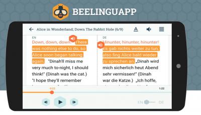 تحميل تطبيق تعلم اللغات Beelinguapp للاندرويد