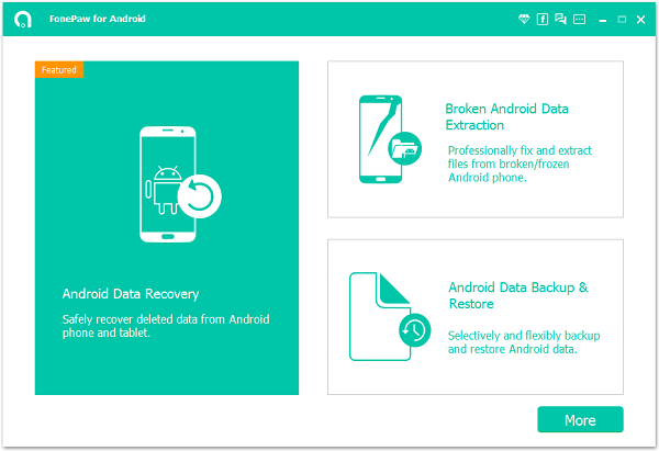 تطبيق FonePaw Android Data Recovery