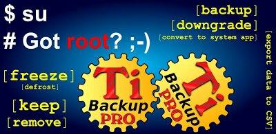 برنامج titanium backup pro مع ملفات البرامج